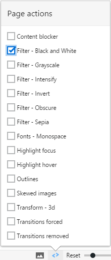 Vivaldi boast a variety of accessibility options.