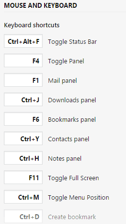 Keyboard shortcuts can be remapped.