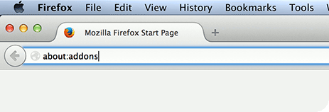 Go to about:addons in Mozilla Firefox.