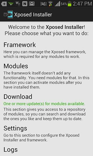 You can download new modules for your device.