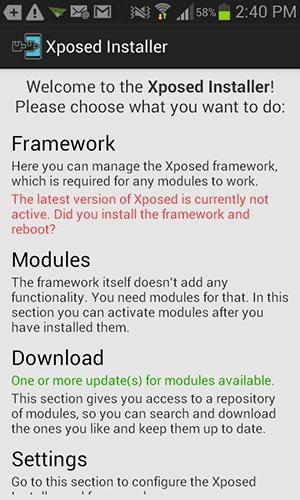Xposed Installer for Android.