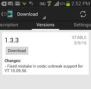 The module should begin downloading.