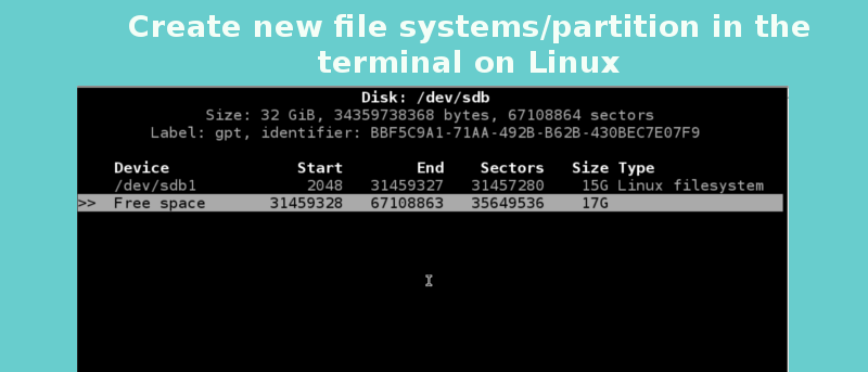 How to Create New File Systems/Partitions in the Terminal on Linux