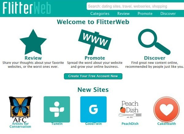 FlitterWeb is Yelp for websites.