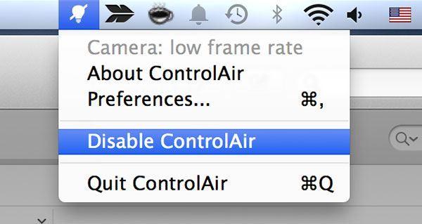 Disable ControlAir