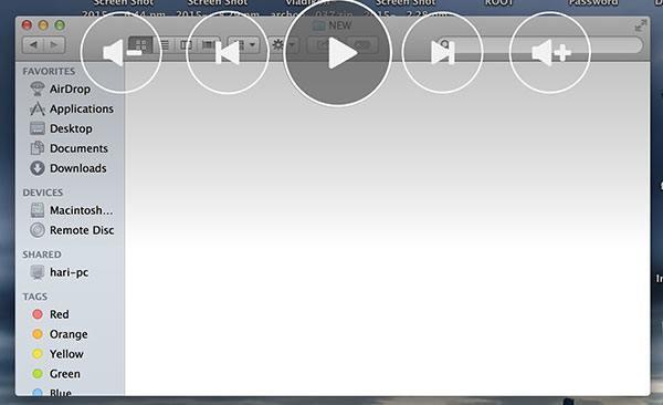 ControlAir music navigation menu