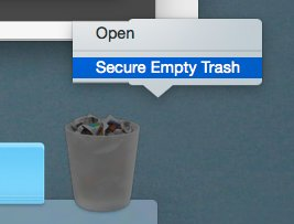 The second thing you can try is Secure Empty Trash.