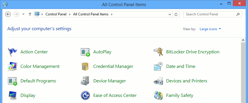 You no longer see the Administrative Tools option in the Windows Control Panel.
