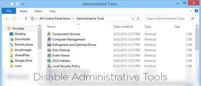How to Restrict Access to Windows Administrative Tools