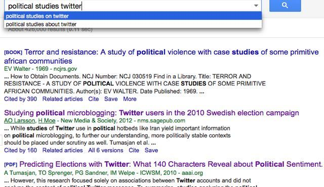Go to Google Scholar.