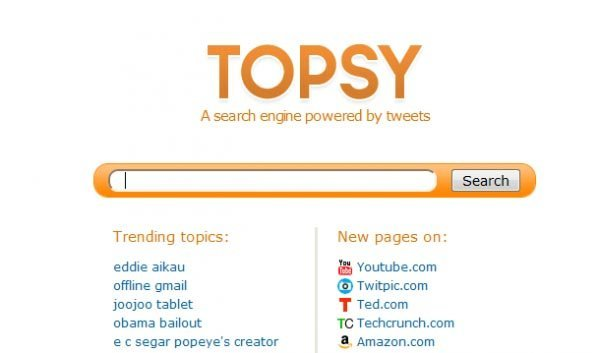 Topsy - Search and Analyze the Social Web.