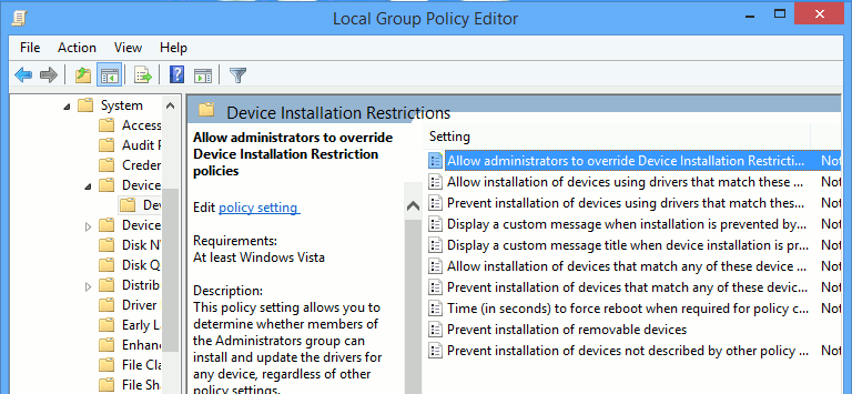 Configure Group Policy and allow administrators to bypass restrictions.