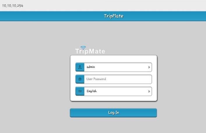 Log into the TripMate admin panel.