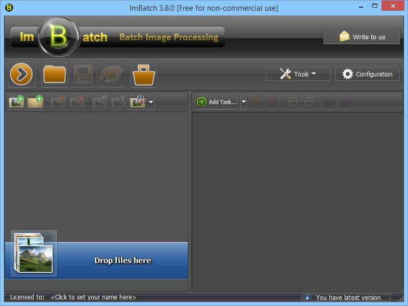 ImBatch main screen.