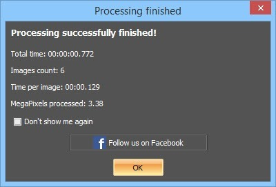 ImBatch - processing finished.