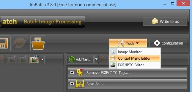 ImBatch Context Menu Editor.