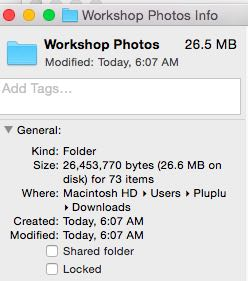 This is the original file size of the photos.