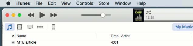 The file will be automatically imported into iTunes.