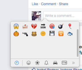 Emojis on Mac.