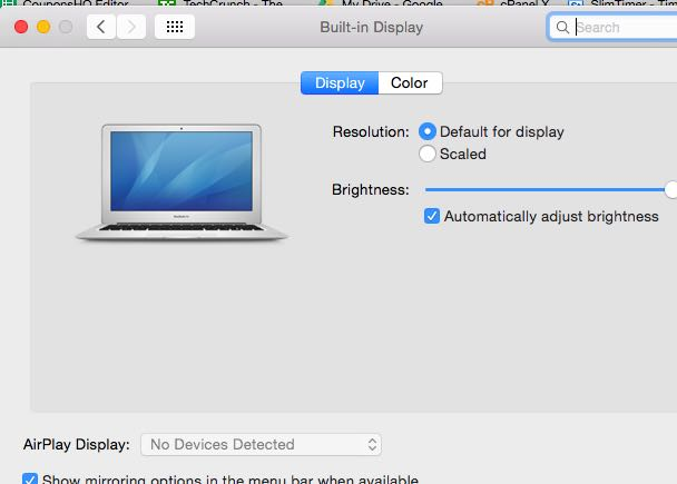 Go to System Preferences and open Display.