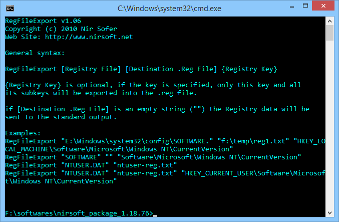 RegFileExport: Extract data from a reg file.