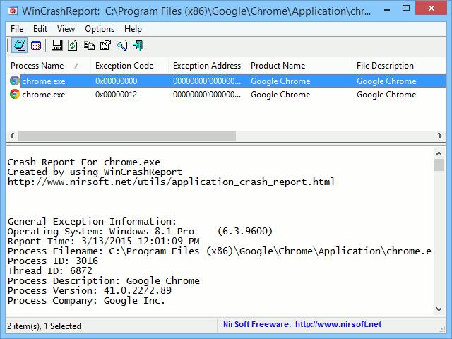 WinCrashReport acts as an alternative to the Windows Crash Report application.