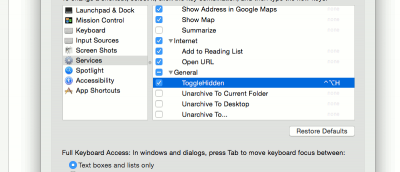 Easily Add a Keyboard Shortcut to Reveal Hidden Files in Mac OS X