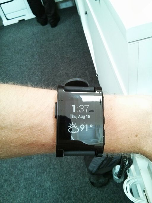 Smartwatch with square display.