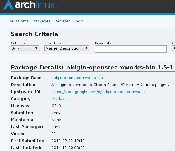 Arch Linux AUR Package