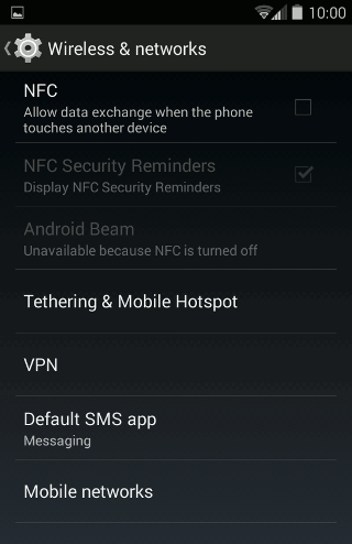 Tap Mobile Networks to see the APN option.