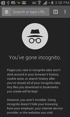 About incognito in Chrome.