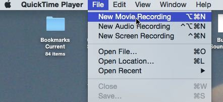 Create a new movie recording.