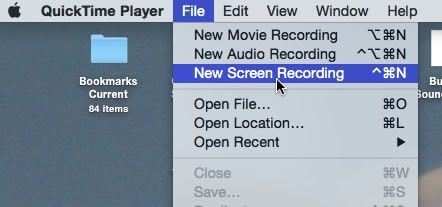 Create a new screen recording.