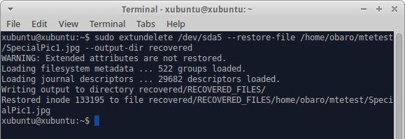 Restore a single file.