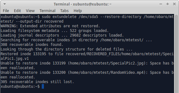 Restore all files in a directory.