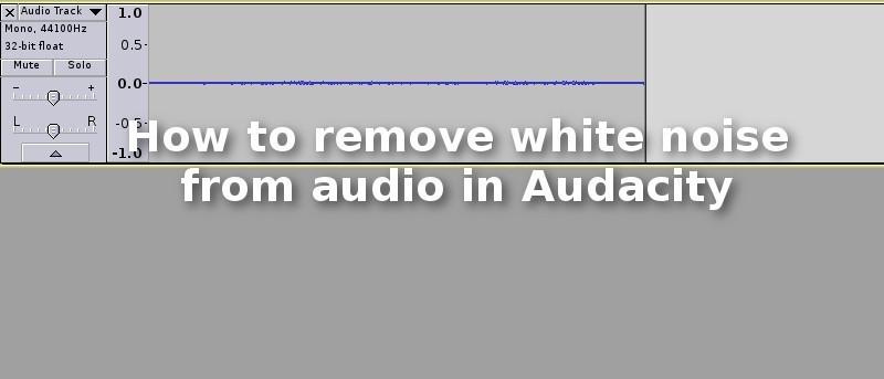 audacity crackling noise when recording