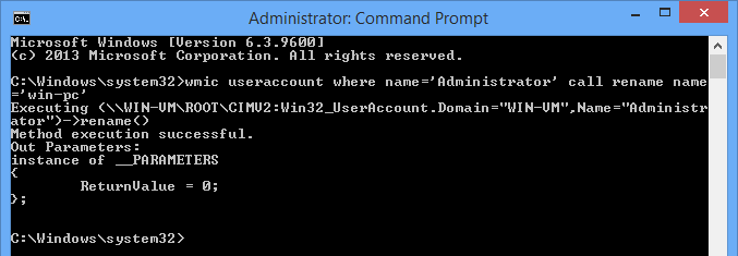 Rename the Administrator account.