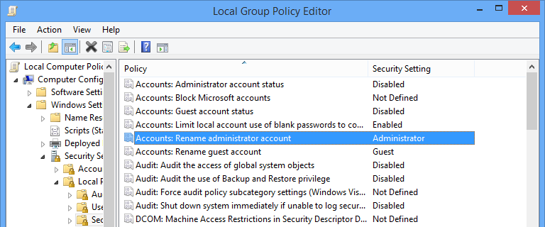 Open the respective policy settings.