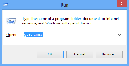 Open the Group Policy Editor.