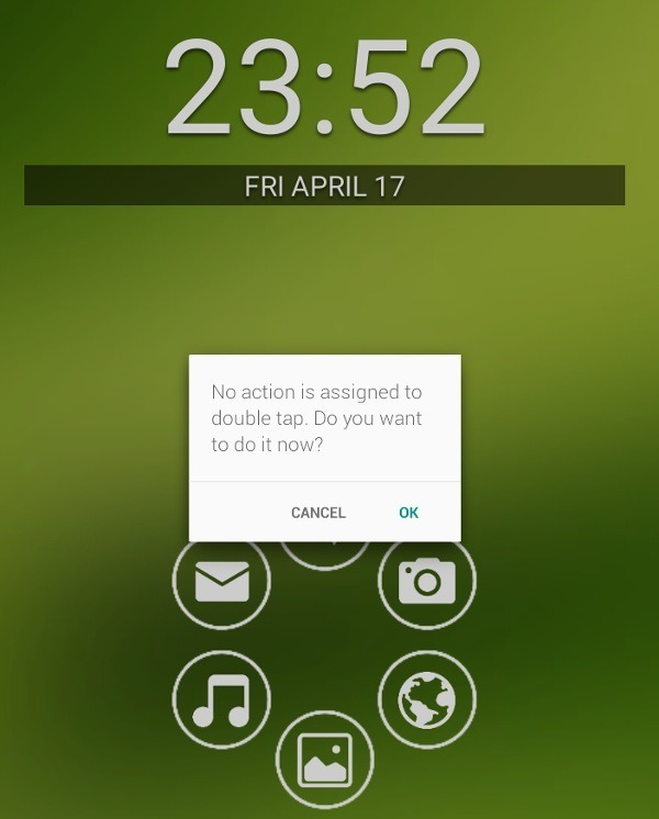 Smart Launcher double tap feature.