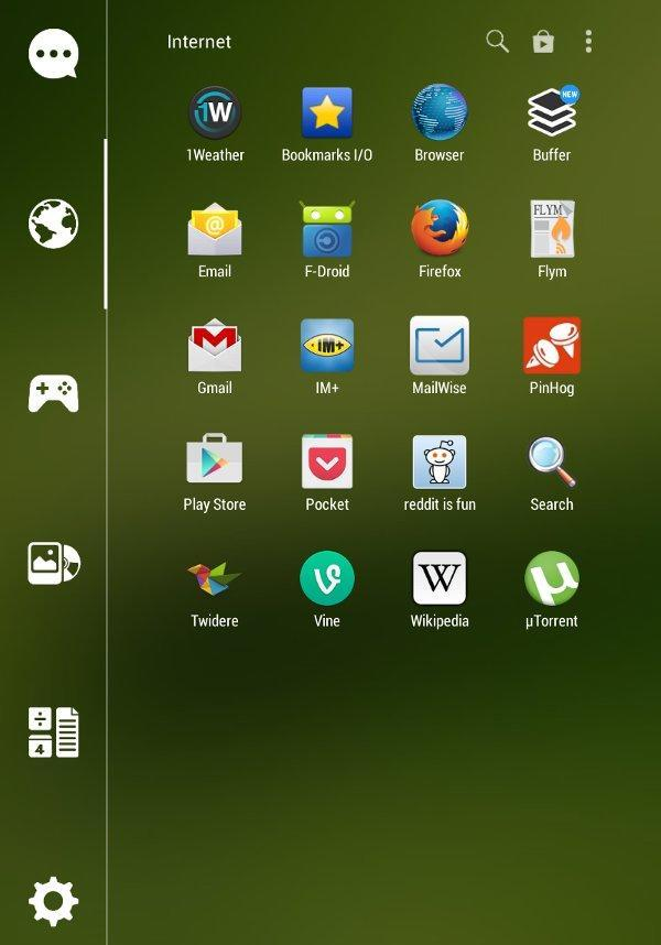 Smart Launcher app drawer.