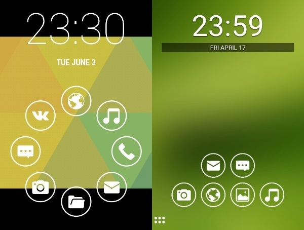 Smart Launcher home screen.