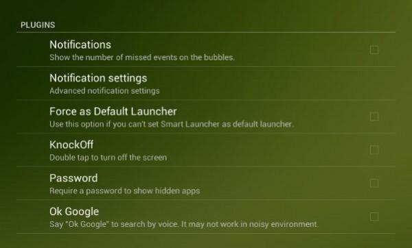 Smart Launcher plugins.