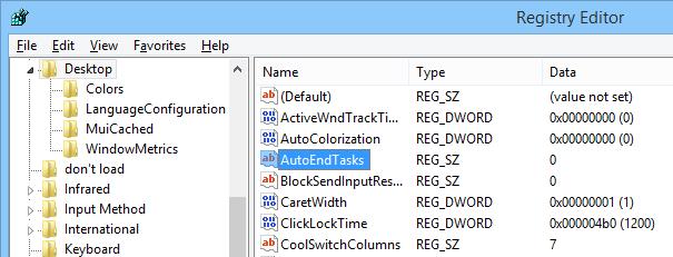 Find the key 'AutoEndTasks.'