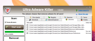 Ultra Adware Killer – A Simple Utility to Clean Installed Adware