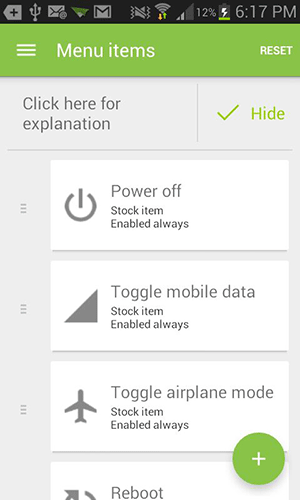 Advanced Power Menu+ Xposed module