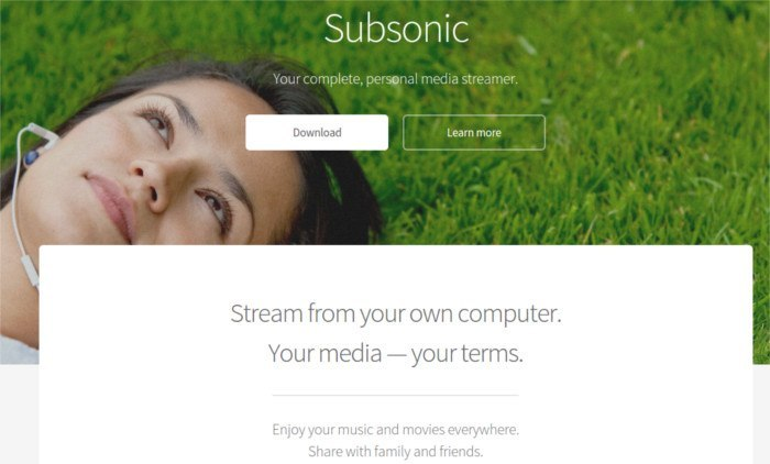 Subsonic - Stream from your own computer.