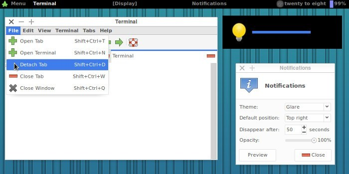 Glare theme for XFCE4.