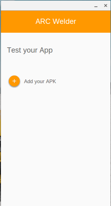 Add your APK to Arc Welder.