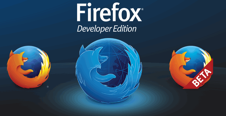 Firefox developer edition website.
